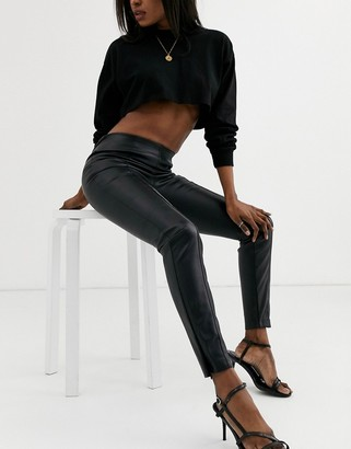 Pimkie faux leather leggings in black