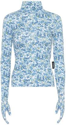 Vetements Floral turtleneck top