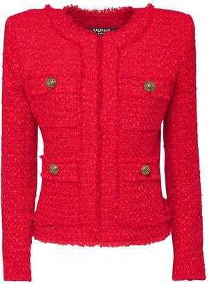 Balmain Wool Blend Tweed Jacket