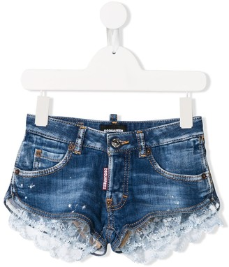 DSQUARED2 Lace-Trimmed Shorts