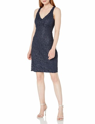 Marina Women's Metallic lace Dress