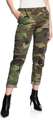 RE/DONE Camo-Print Straight-Leg Cargo Pants