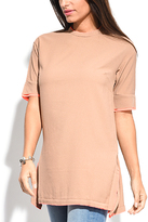 Miss June Camel Back-Zip Tunic