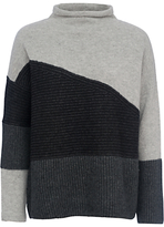 French Connection Patchwork Tonal Jumper