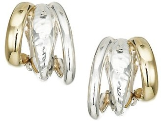 Ippolita Classico Chimera Two-Tone Hammered Multi-Hoop Clip-On Earrings