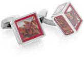 Tateossian Rt By Pandora's Box Plated Enamel Chili Flake Cufflinks