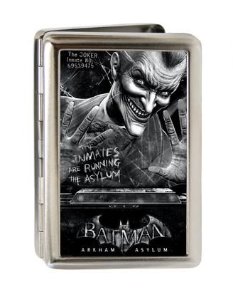 Buckle Down Buckle-Down Men's Metal Wallet - Batman Arkham Asylum Joker Pose Brushed Silve Accessory