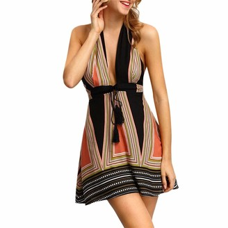 Amhomely Women Half Sleeve Striped Wear to Work Business Cocktail Pencil Dress Women Dresses Casual Women Dresses Clearance Plus Size Women Dresses Sexy Women Dresses New Look Khaki