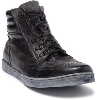 Bed Stu Aqua Leather Hi-Top Lace-Up Sneaker