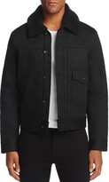 Rag & Bone Bartack Shearling-Collar Denim Trucker Jacket