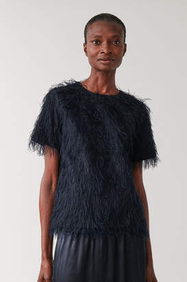 Cos FEATHERED SHORT-SLEEVED TOP