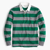 J.Crew Rugby shirt in grey-and-green stripe