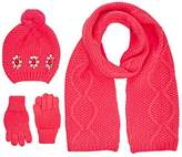 Billieblush Girl's U18052 Pull On Hat Gloves and Scarf
