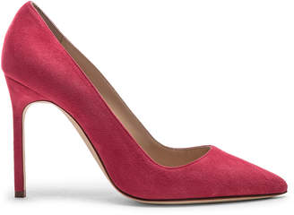 Manolo Blahnik BB Suede Pumps in Pink | FWRD