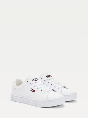 Tommy Hilfiger Embossed Leather Low-Top