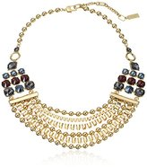 "Kenneth Cole New York Bond and Burgundy"" Mixed Faceted Stone Multi Row Necklace"