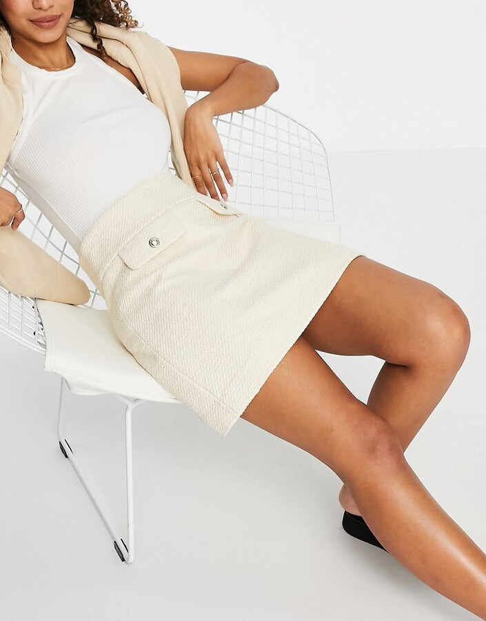 Thumbnail for your product : And other stories & organic blend cotton co-ord flap pocket mini skirt in cream