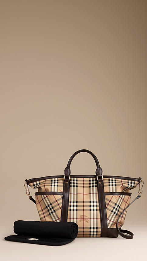 Burberry Haymarket Check Baby Changing Tote Bag