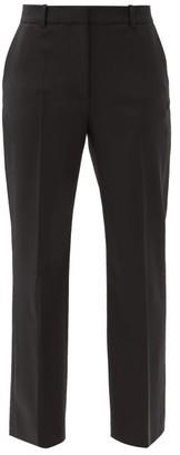 Joseph Coleman Wool-blend Straight-leg Trousers - Black
