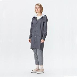 Rains Smoke Long Jacket - XXS/XS - Grey