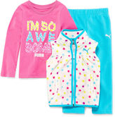 Puma Girls 3-pc. Sleeveless Pant Set-Toddler
