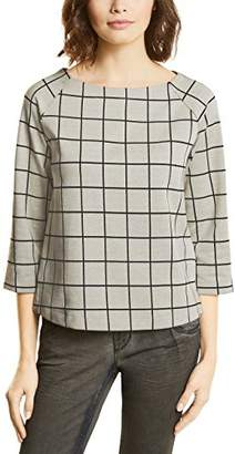 Street One Women's Raglan Shirt with Check Dessin T,(Size: 38)