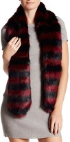 Free Press Two-Tone Faux Fur Scarf