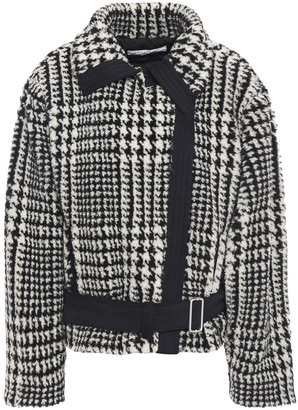 Philosophy di Lorenzo Serafini Prince Of Wales Checked Faux Fur Jacket