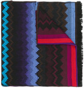 Missoni zig-zag embroidered scarf