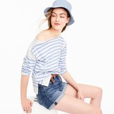J.Crew Placed stripe boatneck T-shirt