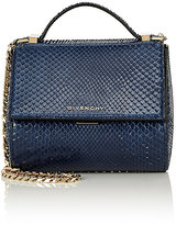 Givenchy Women's Python Pandora Box Mini Crossbody Bag-NAVY