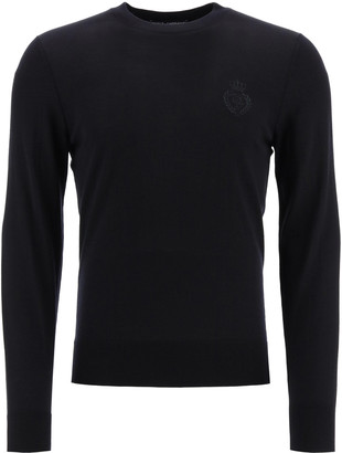 Dolce & Gabbana Combed Wool Sweater Embroidery
