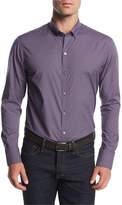 Zachary Prell Micro-Plaid Cotton Shirt