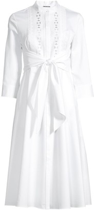 Elie Tahari Ann Tie Poplin Dress