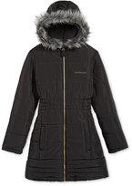 Calvin Klein Everest Puffer Jacket with Faux-Fur Trim, Toddler Girls (2T-5T) & Little Girls (2-6X)