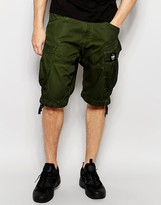 G-star Cargo Shorts Rovic Loose Fit In Sage Green