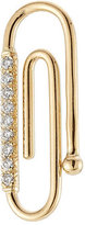 Aurelie Bidermann 18kt Yellow Gold Paper Clip Pendant with White Diamonds