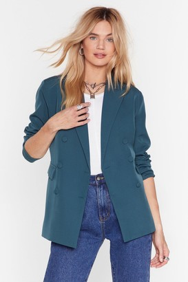 Nasty Gal Womens We Mean Business Double Breasted Blazer - Green