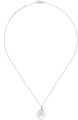 Annoushka 18kt white gold diamond initial R necklace