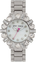 Betsey Johnson Women's Silver-Tone Bracelet Watch 38mm BJ00612-01