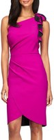 Alex Evenings Women's One-Shoulder Ruffled Sheath Dress