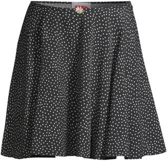 Solid And Striped Polka Dot Circle Skirt