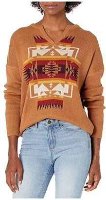 Pendleton Graphic Cotton Sweater (Tan Chief Joseph) Women's Sweater