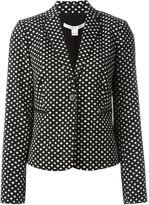 Diane von Furstenberg dot print blazer - women - Cotton/Polyester/Spandex/Elastane - 4