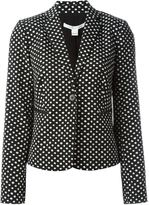 Diane von Furstenberg dot print blazer - women - Cotton/Polyester/Spandex/Elastane - 6