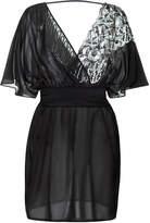 Magic Black silk and Leavers lace short dress