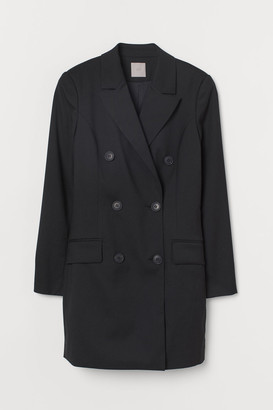 H&M Double-breasted Jacket Dress - Black