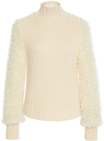 Carven Textured Sleeve Sweater
