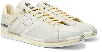 Raf Simons + Adidas Originals Peach Stan Smith Printed Leather Sneakers