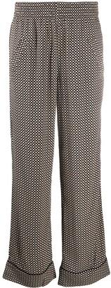 Ganni Check Print Trousers